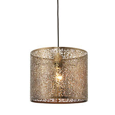 Endon Secret garden 300mm pendant shade only 60W Antique brass effect plate