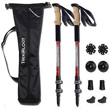 Trekology Walking Trekking Poles 2pc/set - Lightweight Collapsible Adjustable
