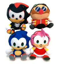 Sonic the Hedgehog 6 Inch - Dr. Eggman, Amy, Shadow & Sonic Plush Stuffed Toys