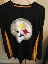 (Z5) Mens Nwot Xl Pitsburgh Steelers Long Sleeve Jersey Style Shirt