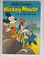 Four Color 411 G+ (2.5) 9/52 Mickey Mouse and the Old Sea Dog!