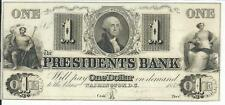$1 District of Columbia Washington D C Presidents Bank 1852 CH CU None on Ebay.