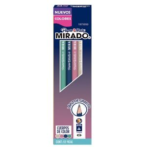 12 Papermate Mirado Triangle # 2 Pencils  Assorted Color Body New In Box 1975950