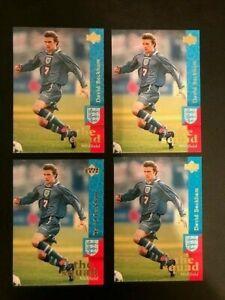 (4) 1997 Upper Deck David Beckham THE SQUAD True England ROOKIE #18 ~ Lot of 4