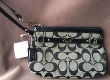 AUTHENTIC COACH Signature Wristlet, Black, NEW with TAGS (19-102)