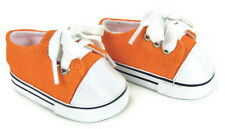 "Orange Sneakers Canvas Gym Shoes for 18"" American Girl Doll Clothes Accessory"