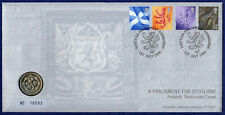 More details for a parliament for scotland 1999 £1 coin cover, scottish lion pound (ref. t4146)
