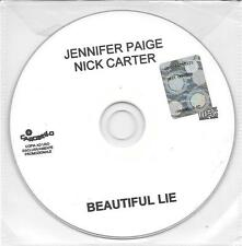 "JENNIFER PAGE  NICK CARTER - RARO CDs PROMO ITALY "" BEATIFUL LIE """