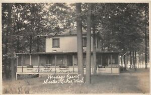 G95/ Sister Lakes Michigan RPPC Postcard c1920s Herdogs Resort House