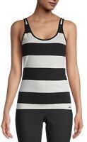 NWT n:Philanthropy Black/Oatmeal Striped Cotton Tank Top Women's Size L