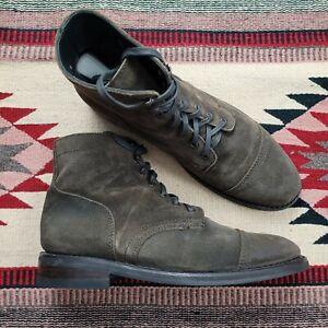 THURSDAY BOOT CO Brown Suede Everyday Captain Boots Mens Sz 10 Lace Up Ankle EUC