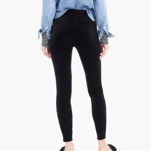 NWT J. Crew Stretch Velvet Leggings Pants Black Plus Sz 2X
