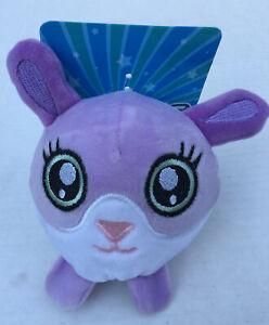 Fuzzy Squishy Stuffed Animal Plush Purple Bunny Rabbit