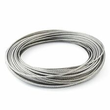 25m câble acier inox 6mm cordage torons: 7x19