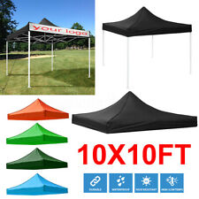 10x10ft Waterproof Pro Top Cover Replacement Gazebo Canopy Roof Sunshade Garden
