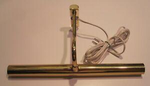 Vintage Traditional Brass Picture Frame Light Lamp,  Adjustable, Gold Tone Metal