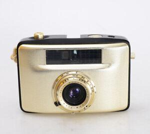 WELTA Penti II ⭐schwarz/gold ⭐18x24 half frame + Domiplan V 3,5/30 Meyer (2241)
