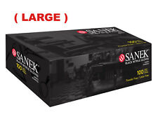 Sanek Black Nitrile Gloves 100ct. box  (LARGE) #78525