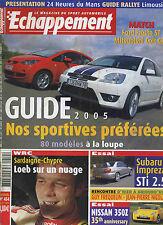 ECHAPPEMENT n°454 06/2005 Subaru Impreza, Nissan 350Z, Ford Fiesta ST, Colt CZT