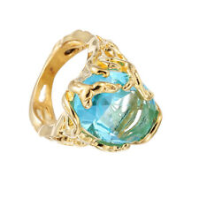 Fashion Engagement Rings Big Blue Crystal Stone Zircon Ring Bridal For Women