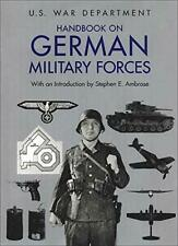 Handbook on German Military Forces by David I. Norwood (Editor) & Step Paperback
