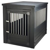 Dog Crate End Table Pet EcoFlex House Furniture With Cushion Espresso Small