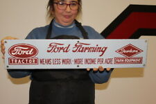 """Ford Farm Tractor 8N 9N Equipment Feed Seed Gas Oil 24"""" Porcelain Metal Sign"""