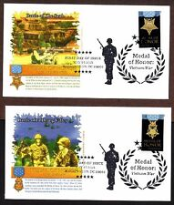 2015 METAL OF HONOR ~ VIETNAM WAR  ~ GRAEBNER CACHET -  3 FIRST DAY COVERS