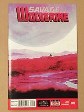 SAVAGE WOLVERINE #9 JOCK COVER STORY & ART 1ST PRINTING VF/NM LOGAN MARVEL 2013