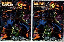 Marvel Super Heros Arcade Game Side art decal set
