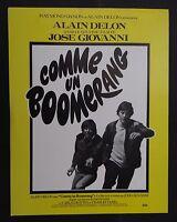 COMME UN BOOMERANG / ALAIN DELON pressbook film cinéma poster