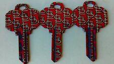 SL Saint Louis Cardinals Schlage SC1 Keyway MLB Sport Home Key House READ