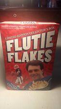 Full 20-oz box limited-edition Flutie flakes cereal VG DOUG FLUTIE T-SHIRT OFFER
