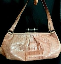 7cefafd78f8a Miu Miu Purse Pink Embossed Alligator Tortoise Snap Two Handles