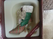 Just The Right Shoe Raine Christmas Eve Ball Boot 25220 2001 Miniature High Heel