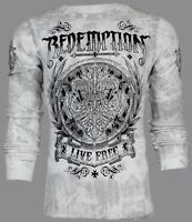 ARCHAIC by AFFLICTION Mens LONG SLEEVE THERMAL Shirt SHIELDED Biker $58 NWT