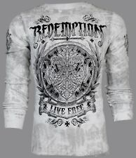 ARCHAIC by AFFLICTION Mens THERMAL T-Shirt SHIELDED Tattoo Biker MMA UFC $58