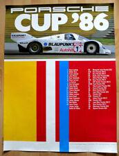 """orginal Porsche Plakat Poster """"Porsche Cup"""" 1986 Klaus Ludwig Joest Porsche 956"""
