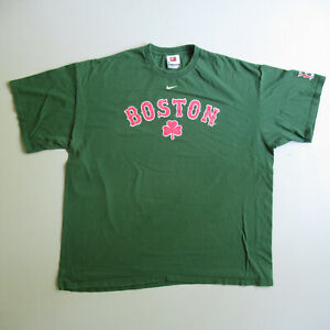 Nike Green Boston Red Sox Baseball Clover T-shirt 2006 XXL