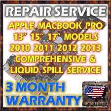 APPLE MACBOOK PRO 2010 2011 2012 2013 LOGIC BOARD REPAIR & LIQUID SPILL SERVICE