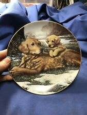 """Hamilton Collection 1991 """"Golden Moments"""" by Jim Lamb Collectors Plate Org Box"""