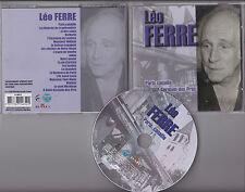 CD PICTURE 18T LEO FERRE PARIS CANAILLE BEST OF 2004 FRANCE