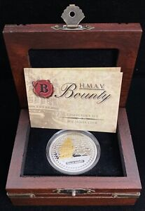 2010 H.M.A.V Bounty $2 .999 Proof Fine Silver Coin with Box and COA