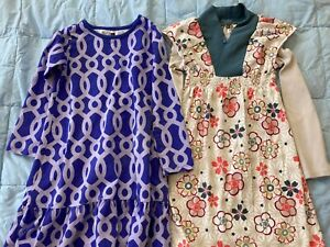 Tea Collection, girls dresses, lot of 2, 7-8, great condition