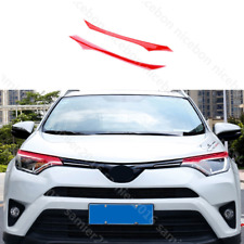 RED PVC brow Truck Parts Front Head Light Cover Fit For Toyota RAV4 2016-2018