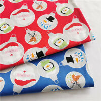 1.6M Santa Cotton Fabric Christmas Patchwork Clothing Sewing Handmade DIY Craft