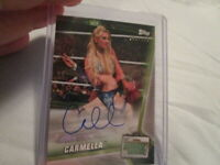 2019 WWE TOPPS MONEY IN THE CARMELLA AUTOGRAPH #141/199