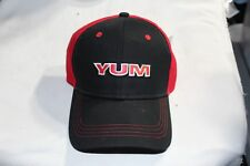 Yum Fishing Bait Lure Hat Adjustable BackBlack Red Trucker Cap Baseball