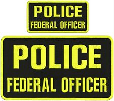 police federal officer embroidery Patches 5x10 and 3x6 hook on back  xxxxxxxx