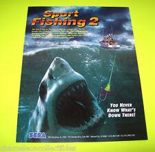 Sega 1995 SPORT FISHING 2 Original Video Arcade Game Promo Sales Flyer Coin-Op